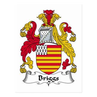 Escudo de la familia de Briggs Tarjetas Postales