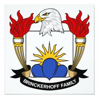 """Escudo de la familia de Brinckerhoff Invitación 5.25"""" X 5.25"""""""