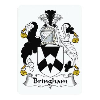 """Escudo de la familia de Bringham Invitación 5"""" X 7"""""""