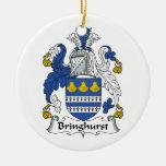 Escudo de la familia de Bringhurst Ornamentos Para Reyes Magos