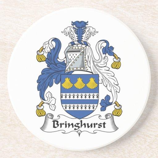 Escudo de la familia de Bringhurst Posavasos Para Bebidas