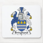 Escudo de la familia de Bringhurst Tapete De Ratones