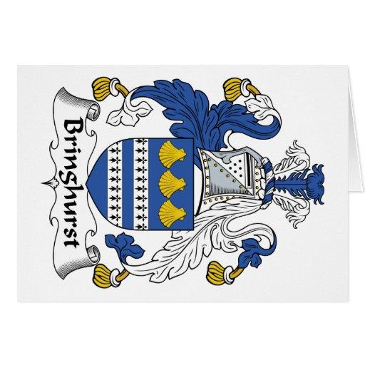 Escudo de la familia de Bringhurst Tarjeton