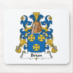 Escudo de la familia de Brión Alfombrillas De Raton