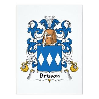 """Escudo de la familia de Brisson Invitación 6.5"""" X 8.75"""""""