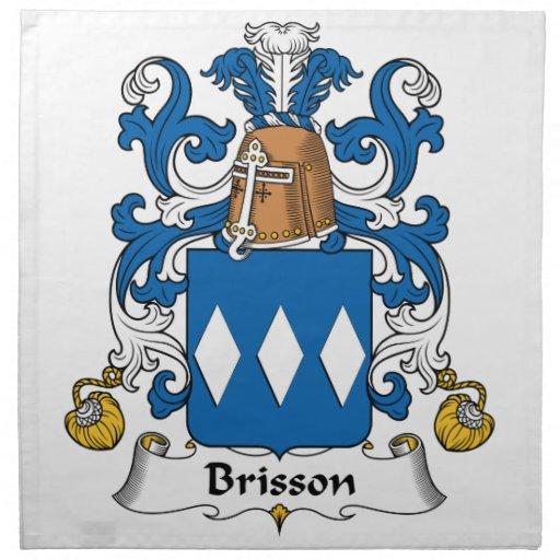 Escudo de la familia de Brisson Servilletas