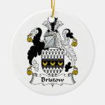 Escudo de la familia de Bristow Ornamento De Navidad