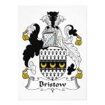 Escudo de la familia de Bristow Invitacion Personal