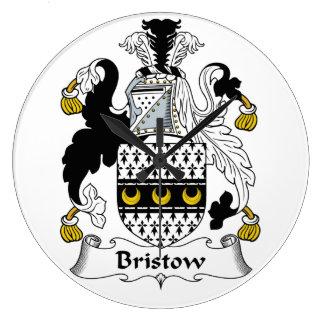 Escudo de la familia de Bristow Reloj Redondo Grande