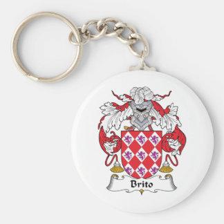 Escudo de la familia de Brito Llavero Redondo Tipo Pin