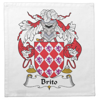 Escudo de la familia de Brito Servilleta De Papel