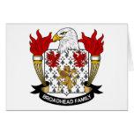 Escudo de la familia de Broadhead Felicitacion