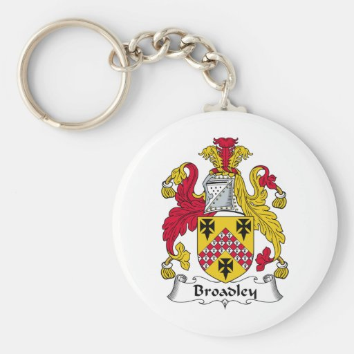 Escudo de la familia de Broadley Llavero Redondo Tipo Pin