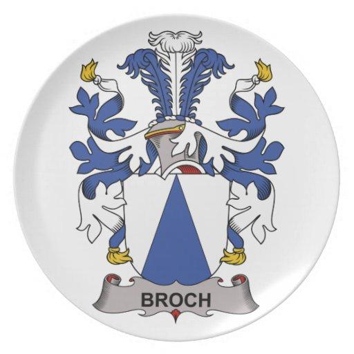 Escudo de la familia de Broch Plato De Cena