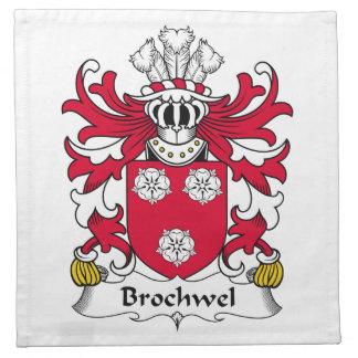 Escudo de la familia de Brochwel Servilletas De Papel