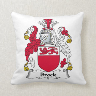 Escudo de la familia de Brock Cojín