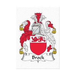 Escudo de la familia de Brock Impresión En Lienzo Estirada