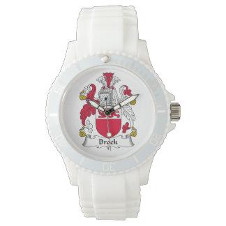 Escudo de la familia de Brock Reloj De Mano