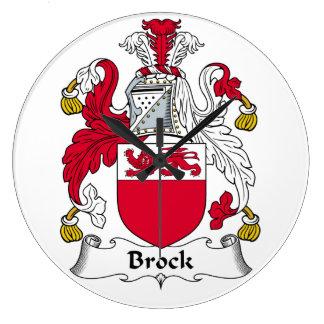 Escudo de la familia de Brock Reloj Redondo Grande