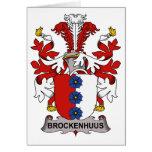 Escudo de la familia de Brockenhuus Tarjetón