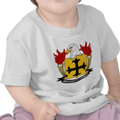 Escudo de la familia de Brockett Camisetas