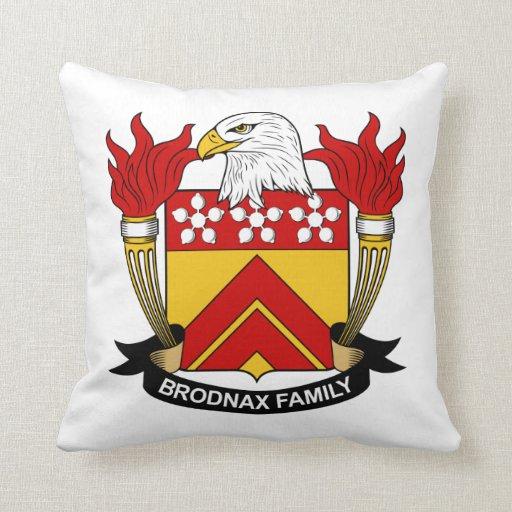 Escudo de la familia de Brodnax Cojin