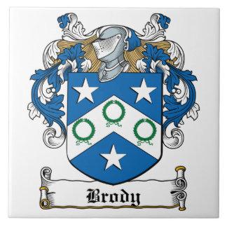 Escudo de la familia de Brody Azulejo Cuadrado Grande
