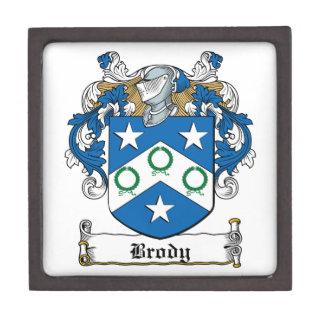 Escudo de la familia de Brody Caja De Recuerdo De Calidad