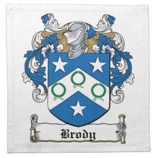 Escudo de la familia de Brody Servilletas Imprimidas