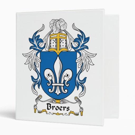 Escudo de la familia de Broers