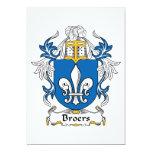 Escudo de la familia de Broers Invitación 12,7 X 17,8 Cm