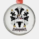 Escudo de la familia de Broersen Adornos De Navidad