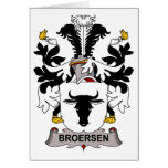 Escudo de la familia de Broersen Felicitaciones