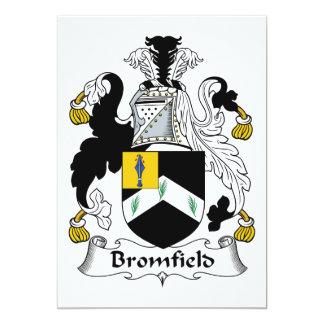 """Escudo de la familia de Bromfield Invitación 5"""" X 7"""""""