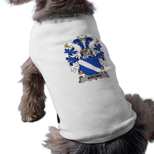 Escudo de la familia de Broms Playera Sin Mangas Para Perro
