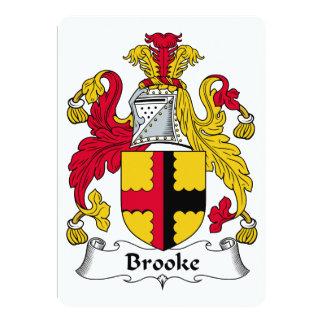 """Escudo de la familia de Brooke Invitación 5"""" X 7"""""""
