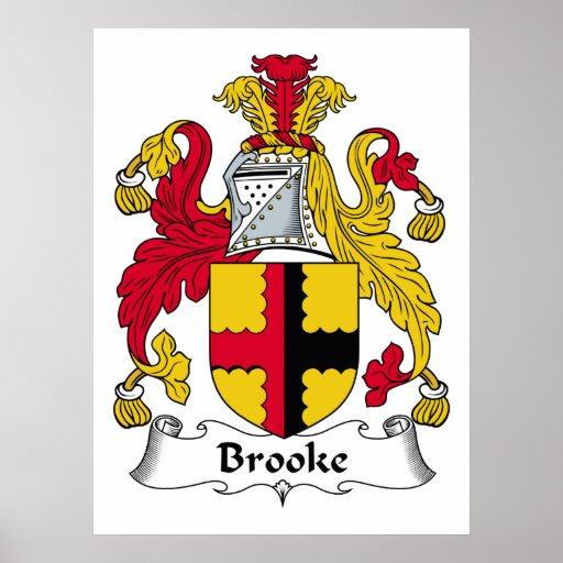 Escudo de la familia de Brooke Póster