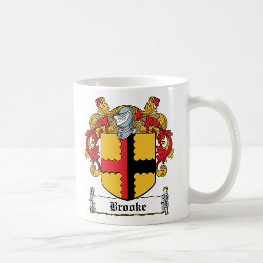 Escudo de la familia de Brooke Taza De Café