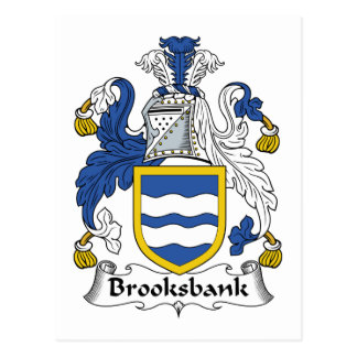 Escudo de la familia de Brooksbank Postal