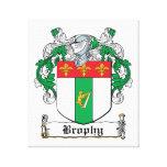 Escudo de la familia de Brophy Lienzo Envuelto Para Galerias