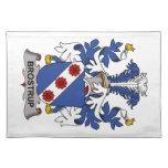Escudo de la familia de Brostrup Mantel Individual