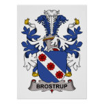 Escudo de la familia de Brostrup Posters
