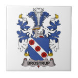 Escudo de la familia de Brostrup Tejas Ceramicas