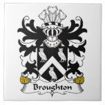 Escudo de la familia de Broughton Azulejo