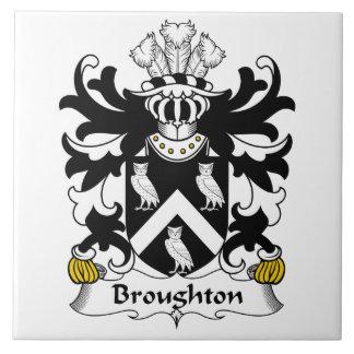 Escudo de la familia de Broughton Azulejo Cuadrado Grande