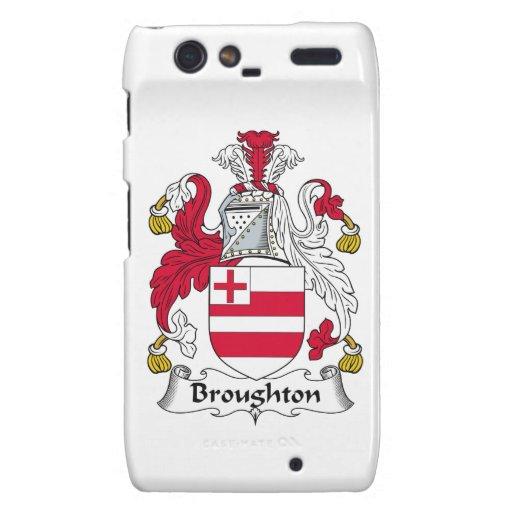 Escudo de la familia de Broughton Droid RAZR Funda