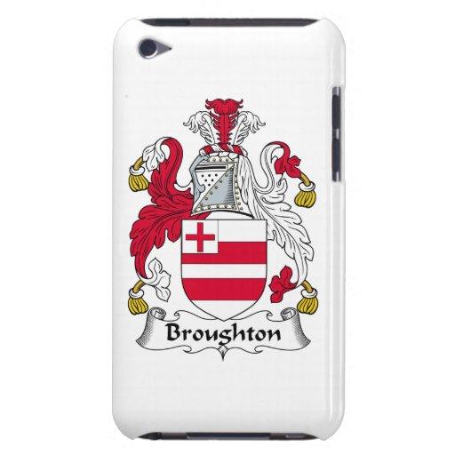Escudo de la familia de Broughton Barely There iPod Cárcasas