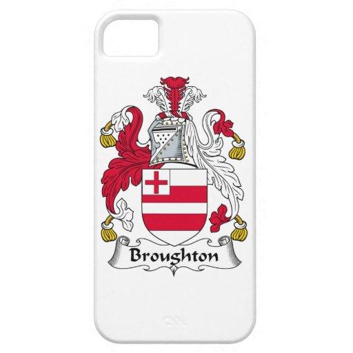 Escudo de la familia de Broughton iPhone 5 Cárcasas