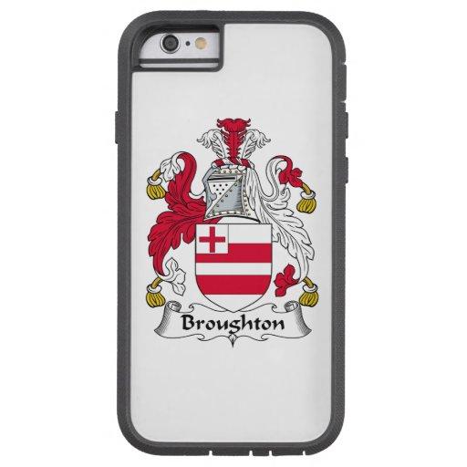 Escudo de la familia de Broughton Funda De iPhone 6 Tough Xtreme
