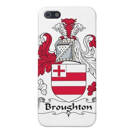Escudo de la familia de Broughton iPhone 5 Coberturas